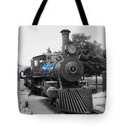 Old No. 7 Black White And Blue Tote Bag