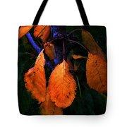 Old Orange Leaves Tote Bag