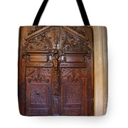 Old Ornamented Door Tote Bag