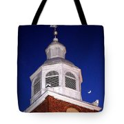Old Otterbein Umc Moon And Bell Tower Tote Bag