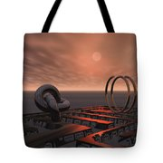 Old Pier And Sculptures Tote Bag