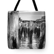 Old Pier In Provincetown Cape Cod Tote Bag