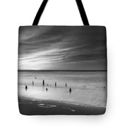 Old Piling Bw Tote Bag