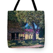 Old Plantation Tool House Tote Bag