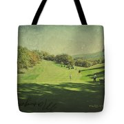 Old Postcard Of Golf Buddies At The Homestead Tote Bag