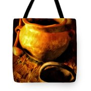 Old Pot And Ladle Tote Bag