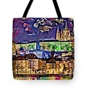 Old Prague Magic - Wallpaper Tote Bag by Daniel Janda