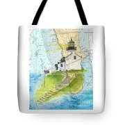 Old Pt Loma Lighthouse Ca Nautical Chart Map Art Cathy Peek Tote Bag