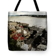 Old Quebec City By St.lawrence Tote Bag