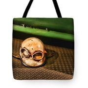 Old Racing Helmet Tote Bag