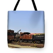 Old Railroad Cars From The Series View Of An Old Railroad Tote Bag
