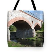 Old Railway Bridge In Silute. Lithuania. Summer Tote Bag