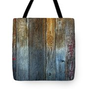 Old Reclaimed Wood - Rustic Red Painted Wall  Tote Bag