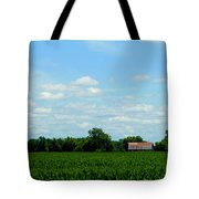 Old Red Barn And Fields Tote Bag