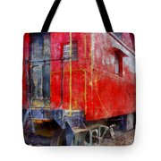 Old Red Caboose Tote Bag