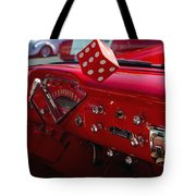 Old Red Chevy Dash Tote Bag