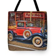 Old Red Pickup Truck Tote Bag