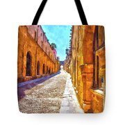 The Old Rhodes Town Tote Bag