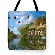 Old River Cottage Tote Bag by Dominic Davison