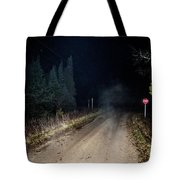 Old Road Night Fog Tote Bag