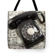 Old Rotary Phone On Money Background Tote Bag
