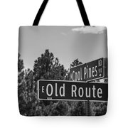 Old Route 66 And Cool Pines Tote Bag