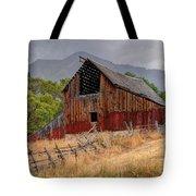 Old Rural Barn In Thunderstorm - Utah Tote Bag