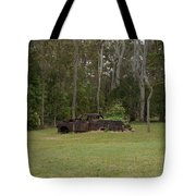 Old Rusted Truck Tote Bag