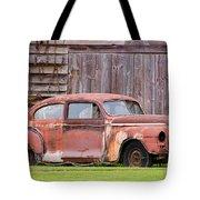 Old Rusty Car Tote Bag