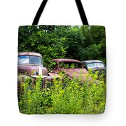Old Rusty Cars Tote Bag