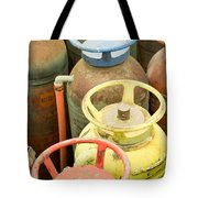Colorful Fire Extinguishers Tote Bag