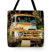 Old Rusty International Flatbed Truck Tote Bag