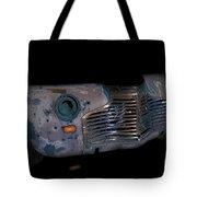 Old Rusty Junk Car In Vivid Colors Tote Bag by Gunter Nezhoda