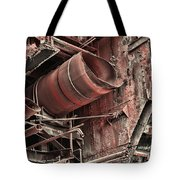 Old Rusty Pipes Tote Bag