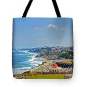 Old San Juan Coastline 2 Tote Bag