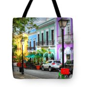 Old San Juan Street Tote Bag