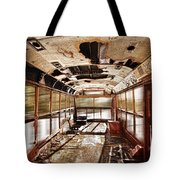 Old School Bus In Motion Hdr Tote Bag