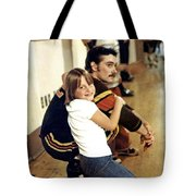 Old School Roller Derby Skater And His Number One Fan Tote Bag