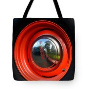 Old School Wheel And New Reflection Tote Bag