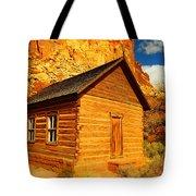 Old Schoolhouse Near Capital Reef Utah Tote Bag by Jeff Swan