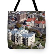 Old Sedgwick County Courthouse In Wichita Tote Bag