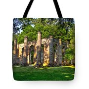 Old Sheldon Church Ruins In South Carolina Tote Bag by Reid Callaway