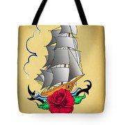 Old Ship Tattoo  Tote Bag