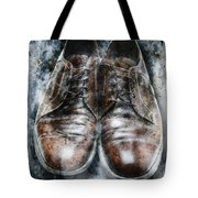 Old Shoes Frozen In Ice Tote Bag