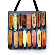 Old Skateboards On Display Tote Bag