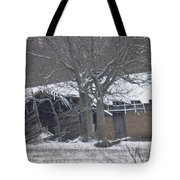 Old Snowy House Tote Bag