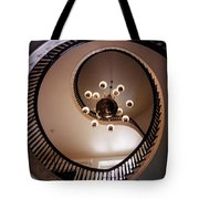 Old Southern Spiral Staircase Tote Bag by John Malone