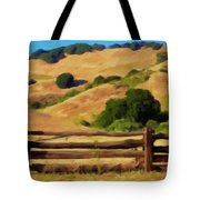 Old Split Rail Fence Tote Bag by Michael Pickett
