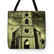 Old St. Mary's Church In Fredericksburg Texas In Sepia Tote Bag