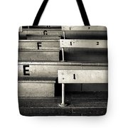 Old Stadium Bleachers Tote Bag